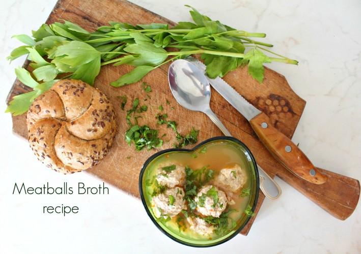 Meatballs-broth