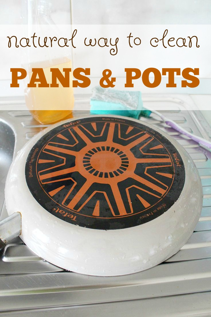 Tired of spending too much time scrubbing your pots and pans? This natural way for cleaning pans and pots is not only easy and enjoyable but it will extend the life of your pans and pots too. Here's how to clean a frying pan!