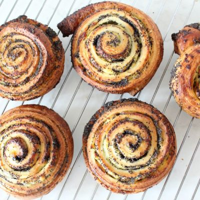 Poppy seeds pinwheels