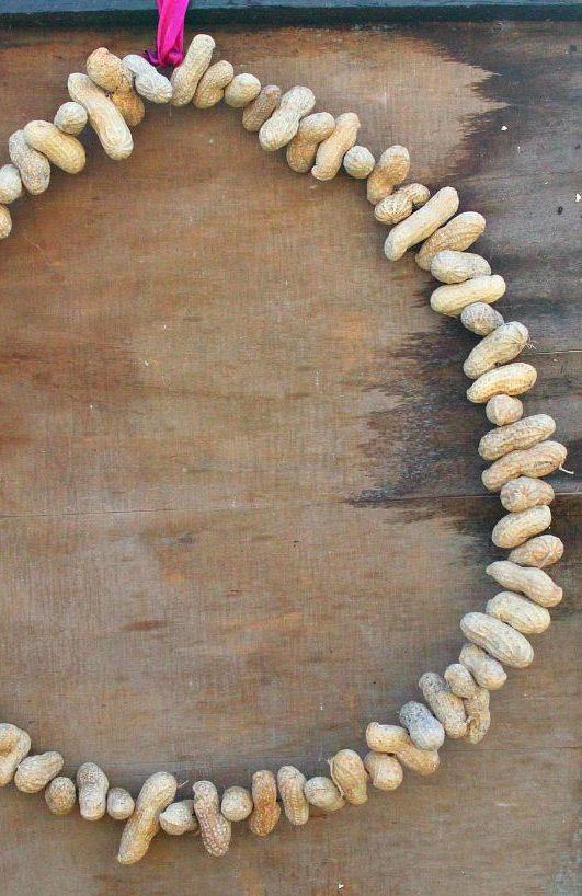 peanut wreath feeder
