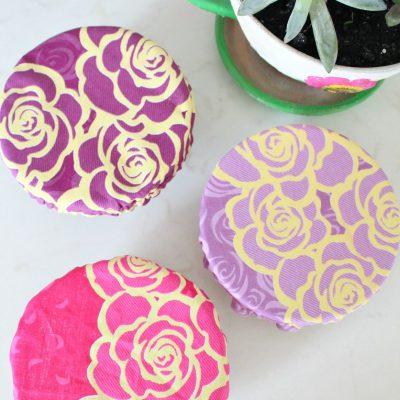 Reusable Fabric Bowl Cover sewing tutorial #FallSoupSeason