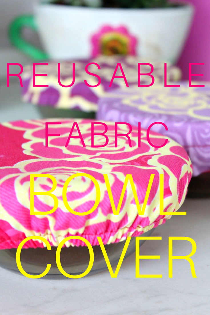 Create a personalized fabric bowl cover so that you can tote your side dishes to potlucks and barbecues in style! Make your own customized fabric covers with this easy and quick reusable bowl covers tutorial!