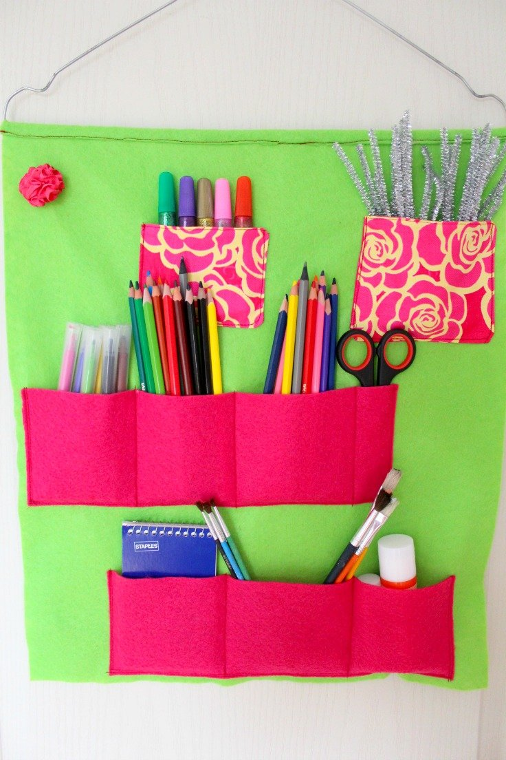 DIY school supplies organizer