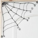 Make your own Spooky-cute Halloween wire spider webs