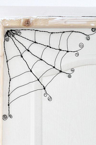 DIY Spooky Cute Halloween wire spider web