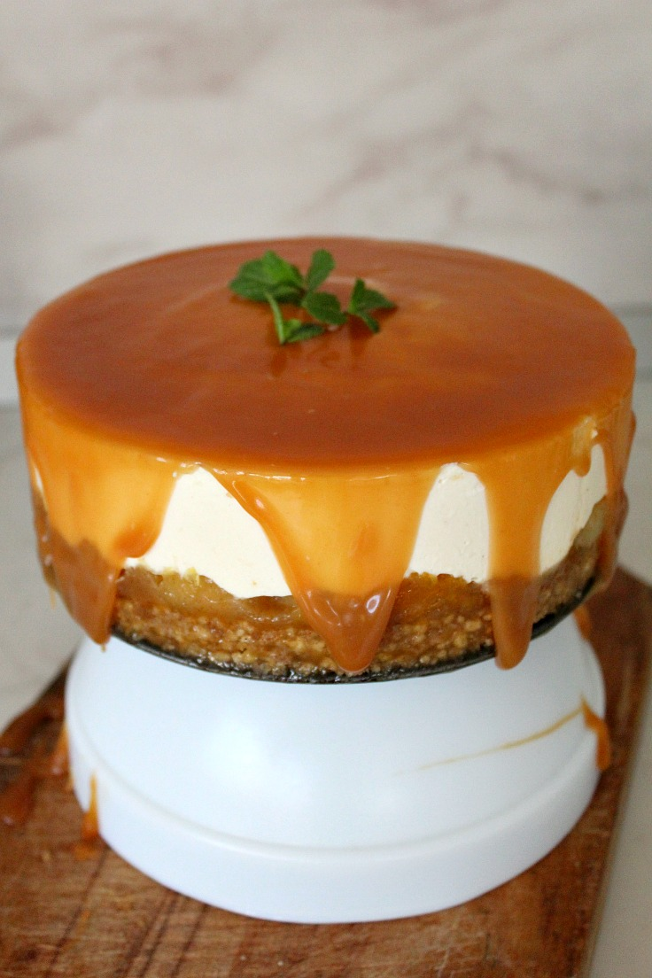No bake orange apples cheesecake