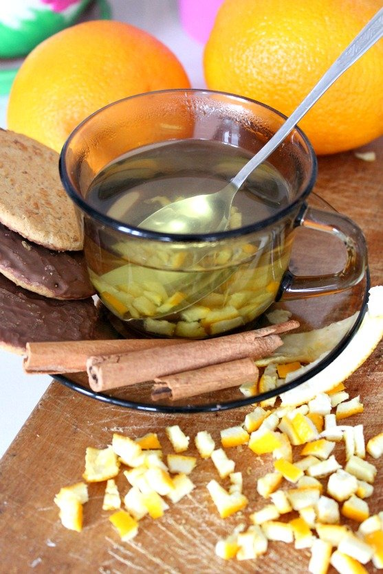 Orange peel tea recipe