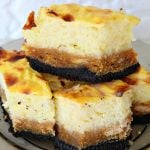 Rice Pudding bars with Oreo and pumpkin crust