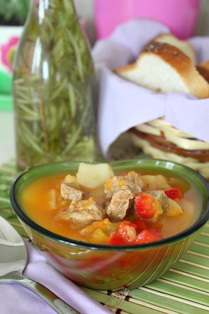 Sour beef soup