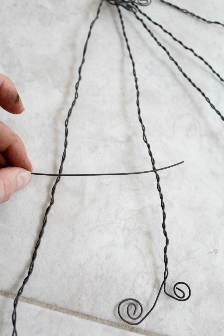 Wire spider web step 15