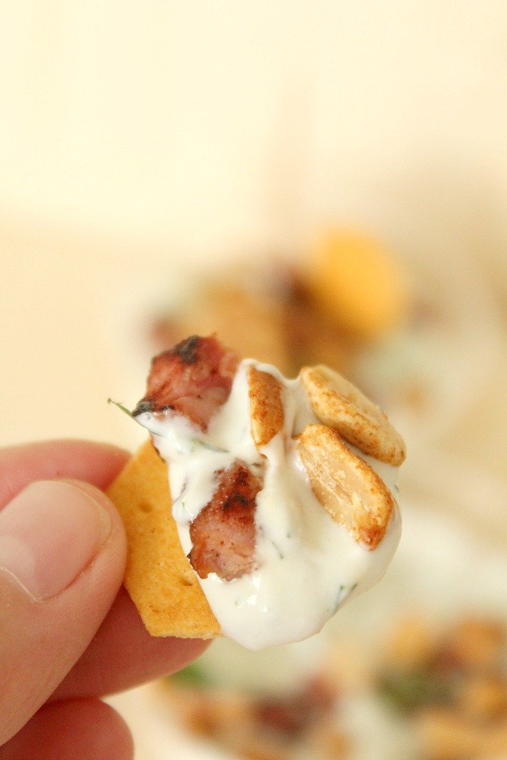 Blue cheese bacon dip