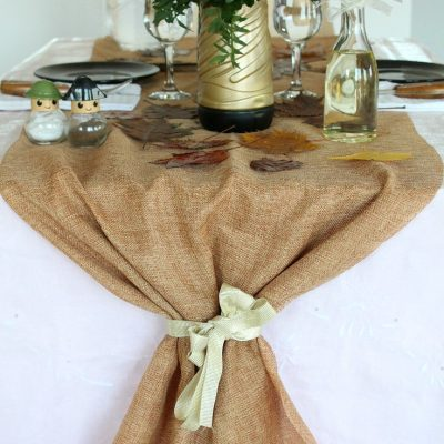 Thanksgiving Jute Table Runner