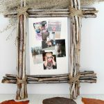 DIY rustic photo frame made with twigs