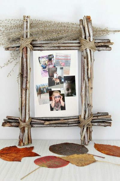 DIY Rustic photo frame