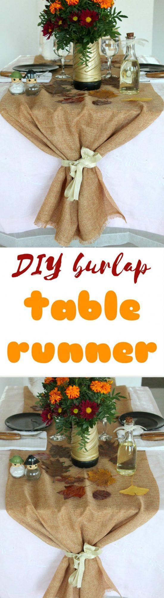 Jute table runner