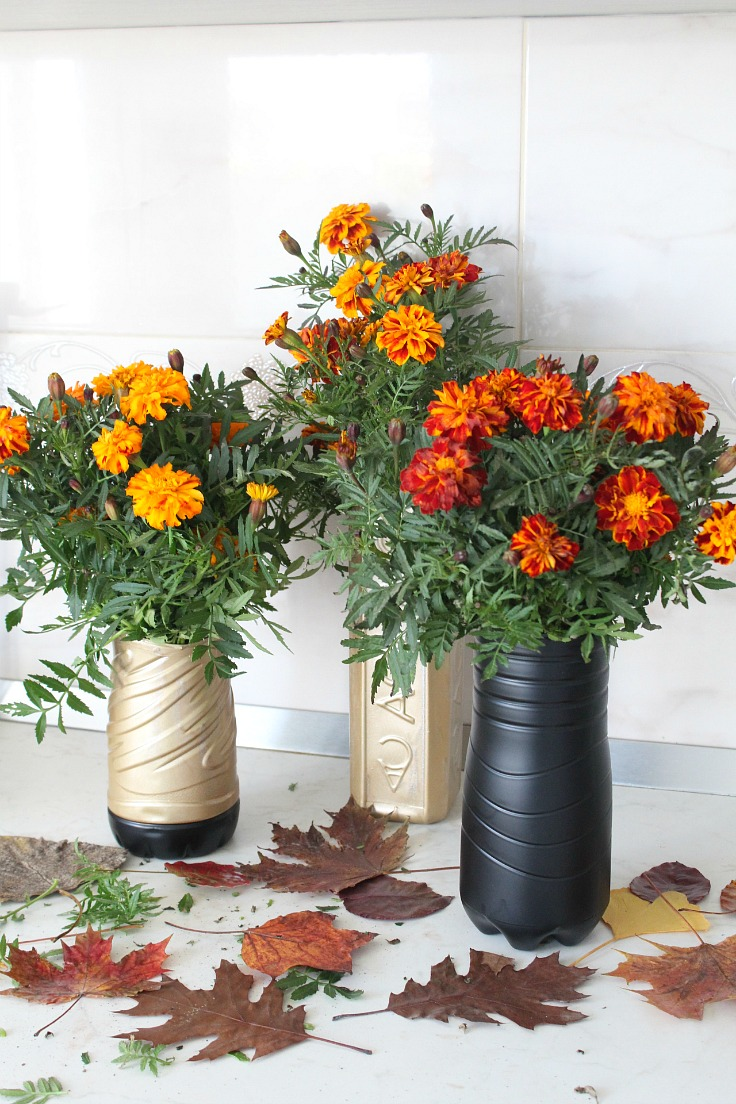 Easy Peasy Creative Ideas & Plastic Bottle Flower Vase Amazingly Easy Recycling Project