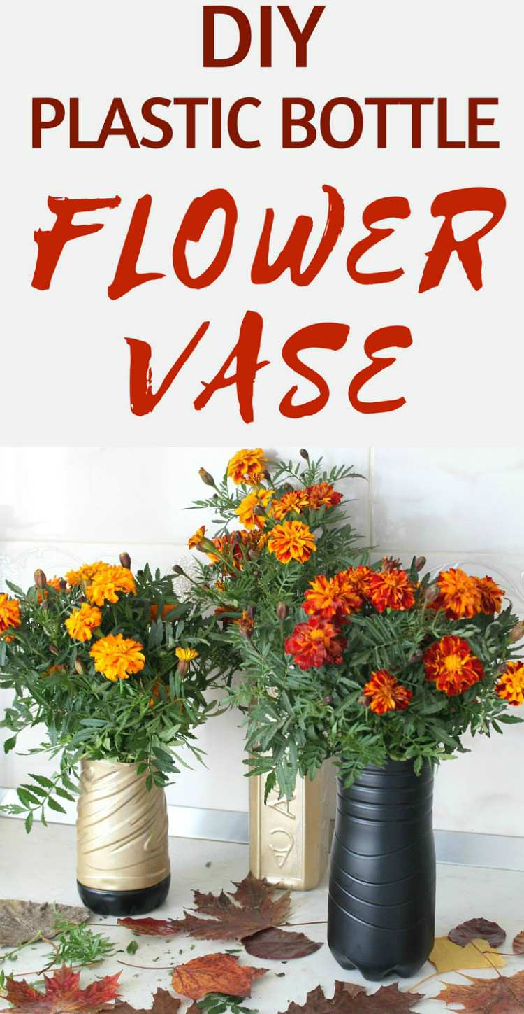 Diy flower vase made with recycled plastic bottle homemade flower vase reviewsmspy