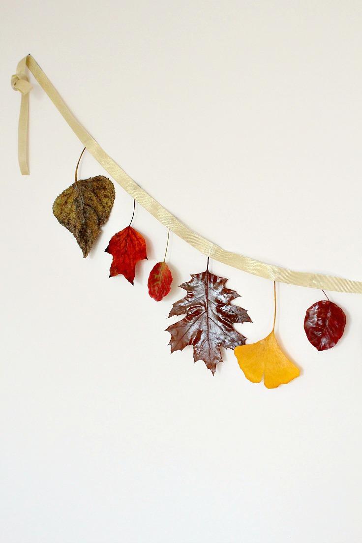 Easy Diy Autumn Leaves Garland