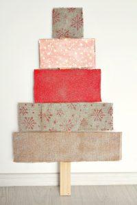 Fabric covered Christmas tree