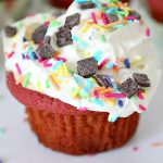 Red Velvet cookie cupcakes recipe