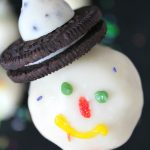 Snowman cake pops recipe with Nutella