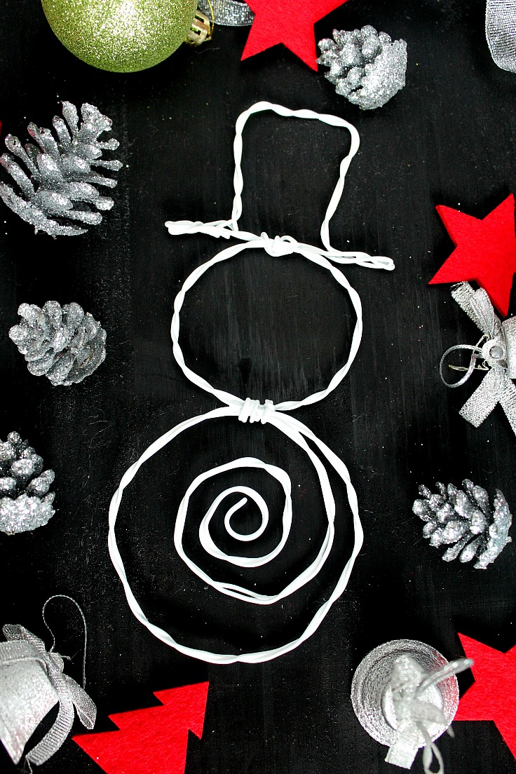 DIY Wire Snowman Easy Christmas Decoration