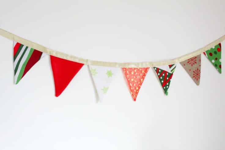 Fabric Bunting Easy To Sew Christmas Home Decor
