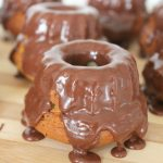 Mini Orange Bundt cakes with chocolate and Nutella glaze
