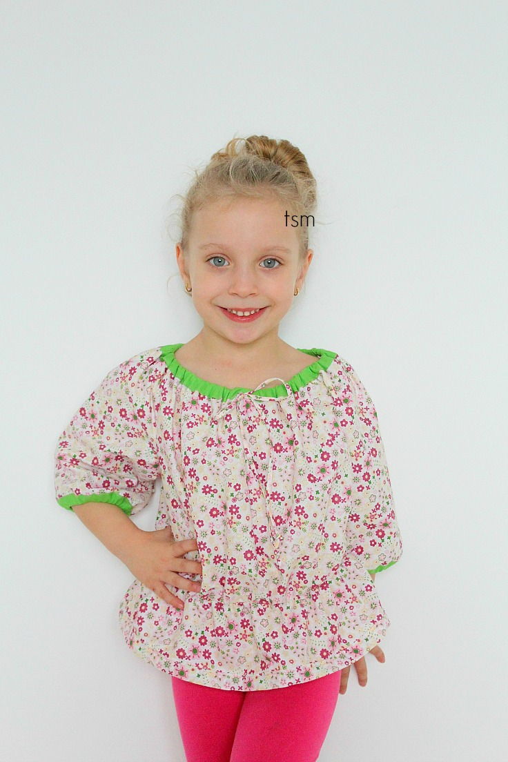 Free childrens peasant top pattern