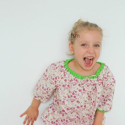 Girls peasant blouse free sewing pattern