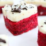 Mini Red Velvet Cake Cookies For Valentine's Day