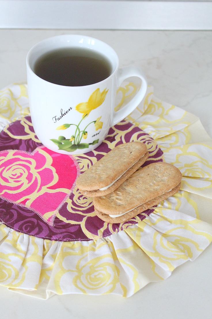 Valentine mug rug pattern