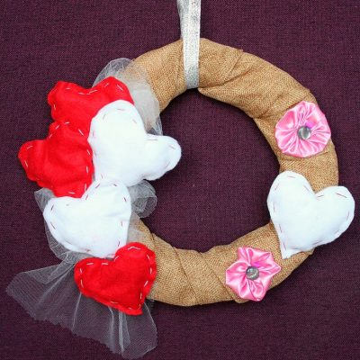 Valentine's Day Wreath To Spruce Up Your Front Door