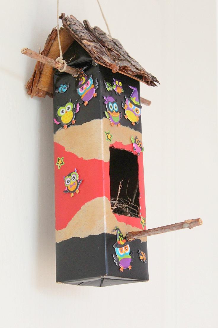 Diy Birdhouse Easy Diy Birdhouse Out Of An Used Milk Carton