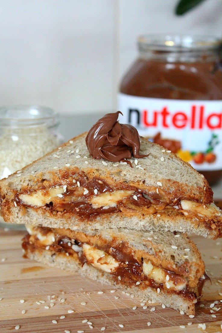 Nutella peanut butter breakfast