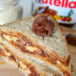 Peanut butter Nutella breakfast sandwich