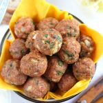 Healthy baked meatballs recipe