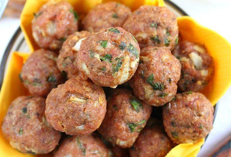 Healthy baked meatballs recipe