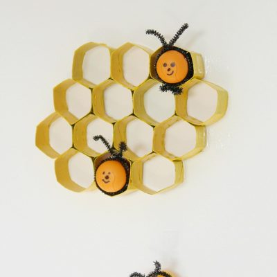 Bee Craft With Kinder Eggs & Chenille Pipes