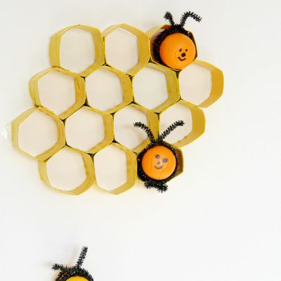 DIY honeycomb with toilet paper rolls