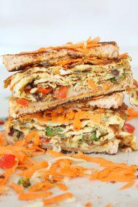 Indian Omelette sandwich recipe
