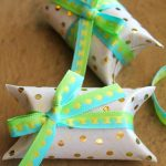 DIY mini gift boxes out of recycled toilet paper rolls