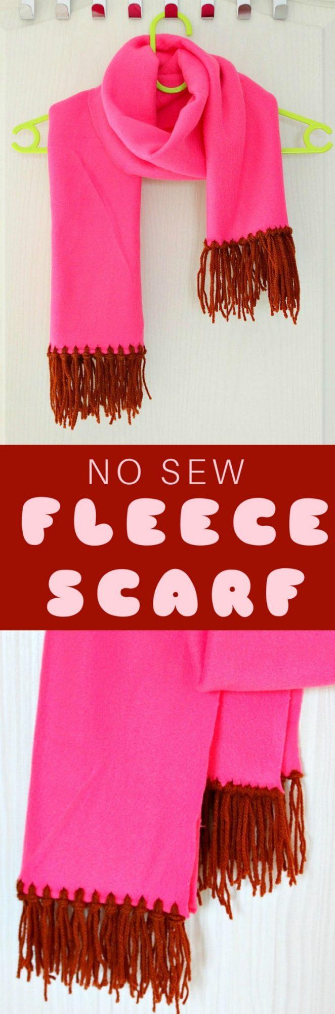 No sew fleece scarf tutorial