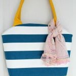 Rounded Top Canvas Tote bag with corded handles