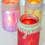 Gorgeous DIY jar luminaries