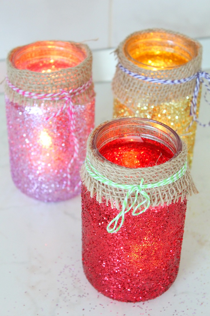 DIY Jar Luminaries
