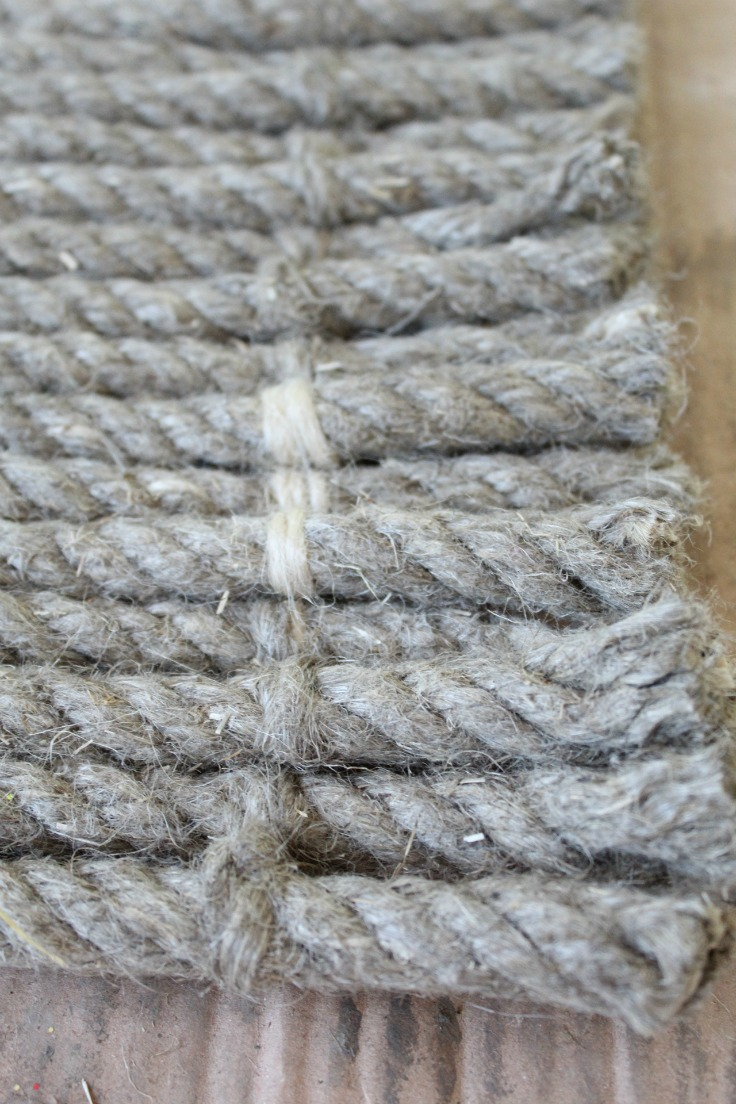 how to make a rug from rope