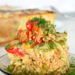Vegetable and Chicken Hash brown lasagna recipe