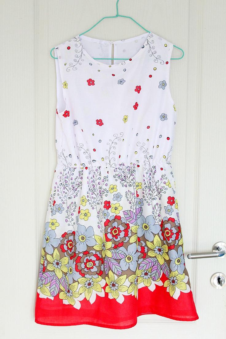 s gathered waist summer dress pattern