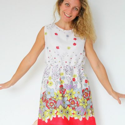 Women's Gathered waist summer dress pattern